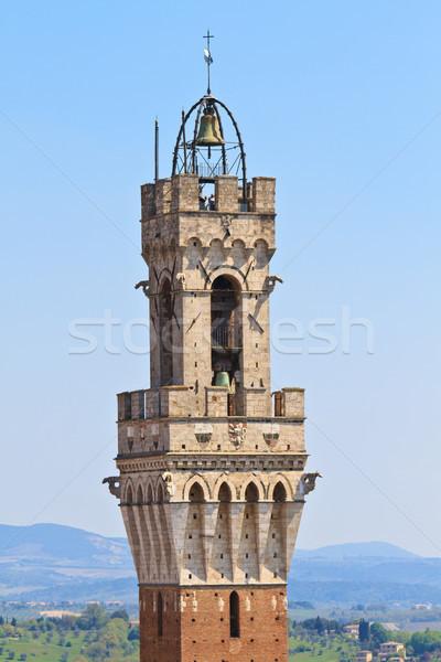 Bell Tower of  Palazzo Pubblico (Palazzo Comunale), Siena, Italy Stock photo © Bertl123