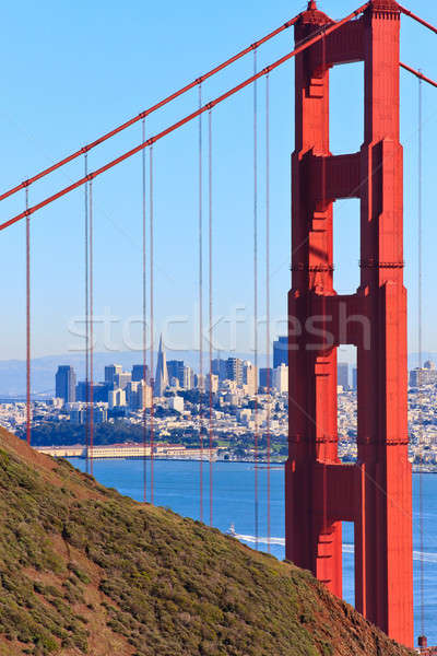 Golden Gate Bridge ver San Francisco Califórnia estrada cidade Foto stock © Bertl123