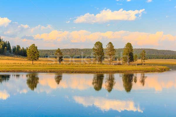 Scenico panorama serpente fiume parco Wyoming Foto d'archivio © Bertl123