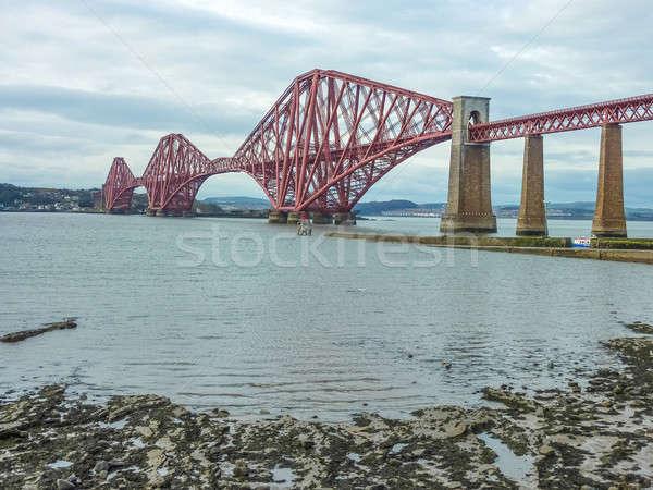 鉄道 橋 エディンバラ スコットランド 水 風景 ストックフォト © Bertl123