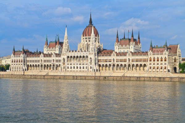 Húngaro parlamento Budapest Hungría parque vista Foto stock © Bertl123