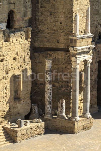 Oude Romeinse theater oranje zuidelijk Frankrijk Stockfoto © Bertl123