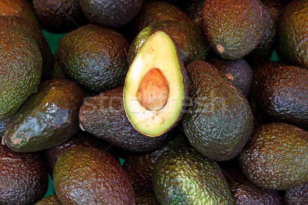 Stok fotoğraf: Taze · yerel · pazar · gıda · meyve · yeşil