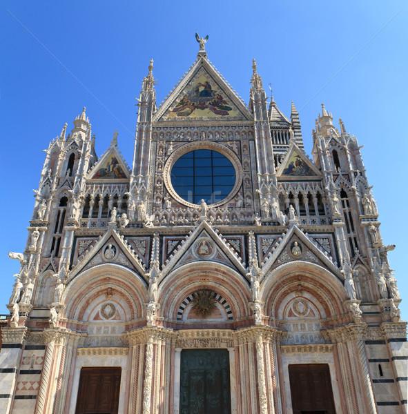 Facade of Siena dome (Duomo di Siena), Italy Stock photo © Bertl123