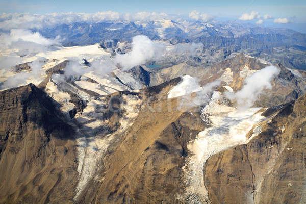 Glacier at Großglockner massif - aerial view, Austria Stock photo © Bertl123