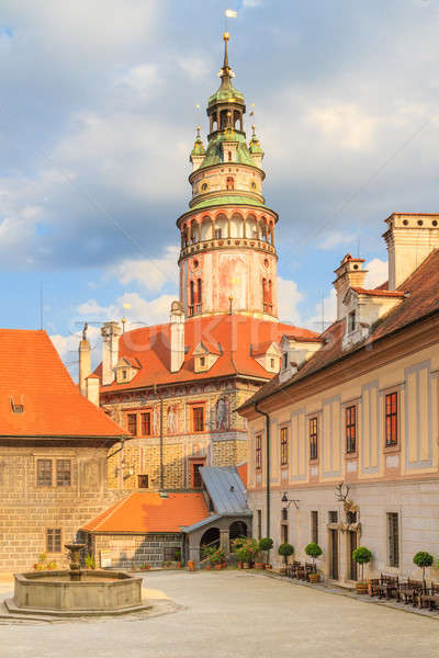 Cesky Krumlov / Krumau, View on Castle Tower, UNESCO World Herit Stock photo © Bertl123