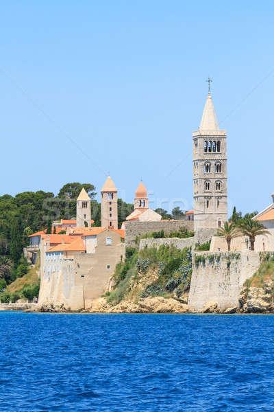 Croatian island of Rab, view on city and fortifications, Croatia Stock photo © Bertl123