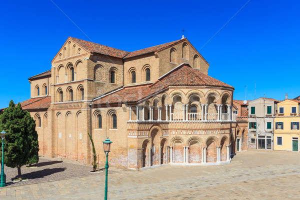 Murano, Santa Maria and San Donato Cathedral, Venice, Italy Stock photo © Bertl123