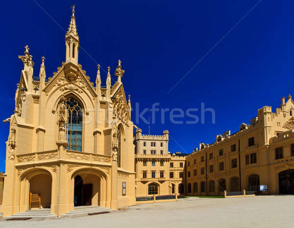Stock photo: Lednice palace, Unesco World Heritage Site, Czech Republic