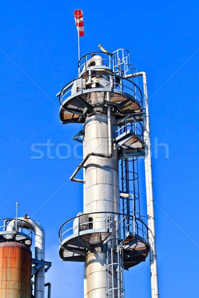 Blauwe hemel zwaar industrie complex hemel Stockfoto © Bertl123