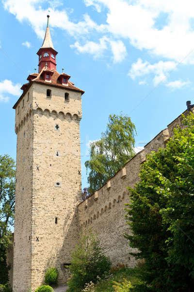 Luzern City Wall with medieval tower, Switzerland,  Stock photo © Bertl123