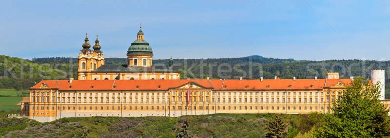 Melk Panorama - Famous Baroque Abbey (Stift Melk), Austria Stock photo © Bertl123
