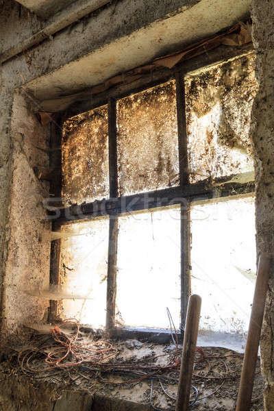 öreg ablak foltok háttér fehér minta Stock fotó © Bertl123