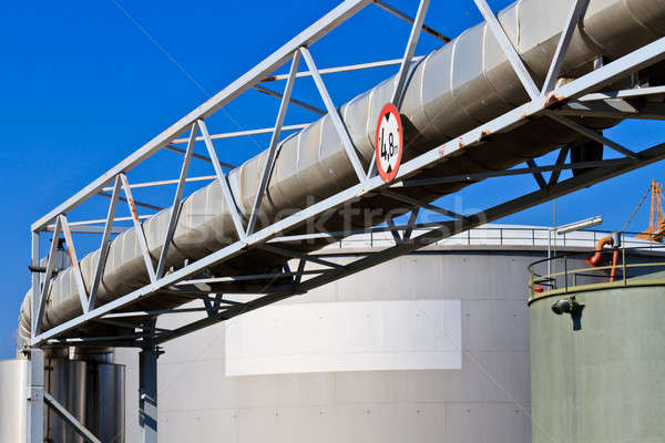 Oil reservoir on a petrochemical plant  Stock photo © Bertl123