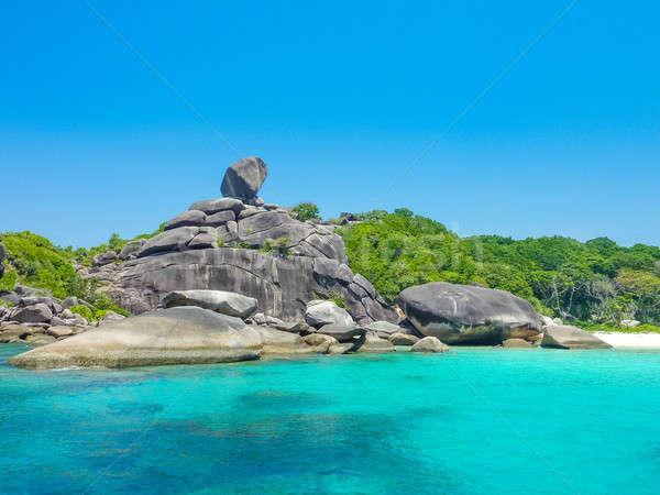 Ilha oito Tailândia água paisagem fundo Foto stock © Bertl123