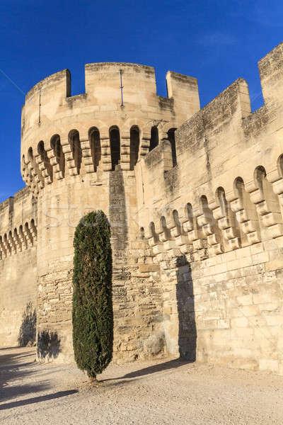 中世 市 壁 建物 風景 青 ストックフォト © Bertl123