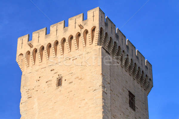 Avignon in Provence - Tower of the Popes Palace Stock photo © Bertl123