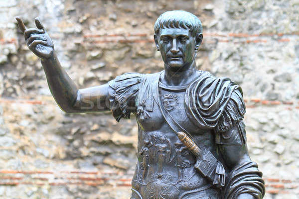 Trajan Statue, Roman Walls, London - UK Stock photo © Bertl123