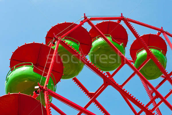 Red Green Blue Ferries Wheel Detail Stock photo © Bertl123