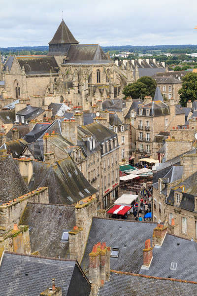 Dinan old town panoramic view, Brittany, France Stock photo © Bertl123