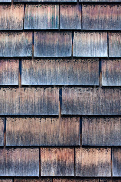 Clapboard house shingle roof Stock photo © Bertl123