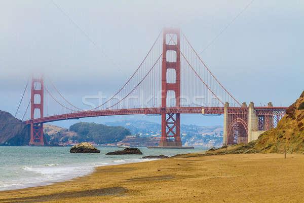 ゴールデンゲートブリッジ パン ビーチ サンフランシスコ カリフォルニア 市 ストックフォト © Bertl123