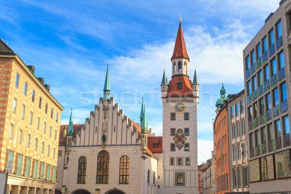Мюнхен старый город зале башни Германия здании Сток-фото © Bertl123
