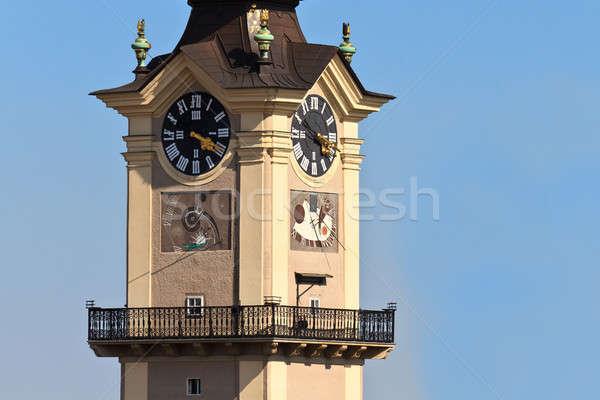 Torony utca ablak templom kék város Stock fotó © Bertl123