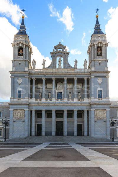 Kathedraal Madrid Spanje stad kruis veld Stockfoto © Bertl123