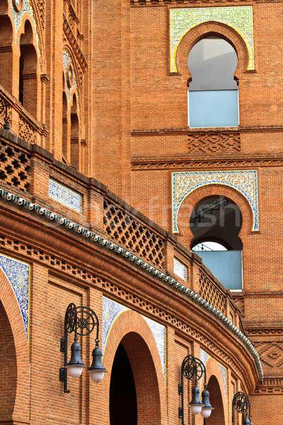Stock fotó: Madrid · Spanyolország · építészet · részletek · aréna · város