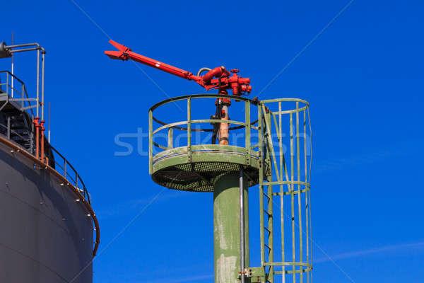 Fogo bocal Óleo alto pesado indústria Foto stock © Bertl123