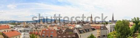 Linz, Panorama of old city, Austria Stock photo © Bertl123