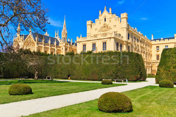 Stock photo: Lednice palace and gardens, Unesco World Heritage Site, Czech Re