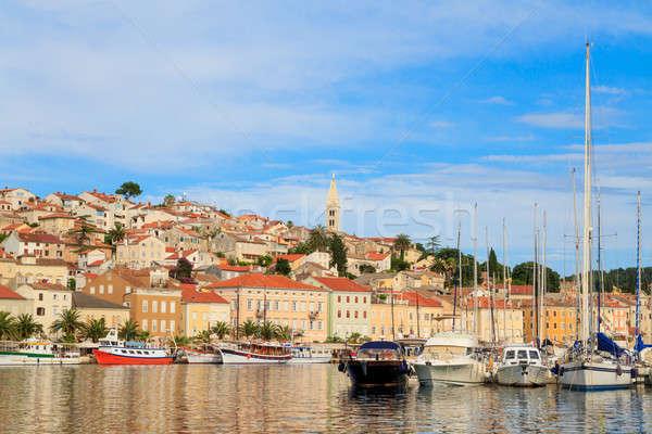 Mali Losinj waterfront and harbor, Island of Losinj, Dalmatia, C Stock photo © Bertl123