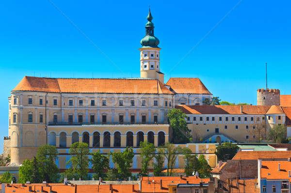 Castelo cidade sul República Checa grama cidade Foto stock © Bertl123