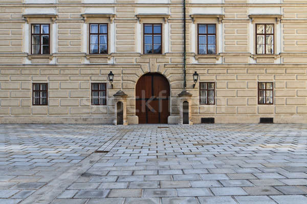 Vienna Hofburg Palace - Entrance Door in Inner Square Stock photo © Bertl123