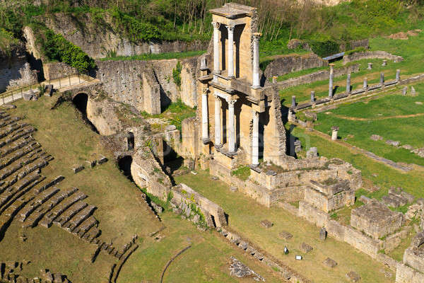 Remains of Roman Amphitheatre in Volterra, Tuscany, Italy Stock photo © Bertl123