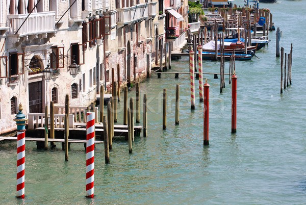 Gondola landing places, Canale Grande, Venice, Italy Stock photo © Bertl123