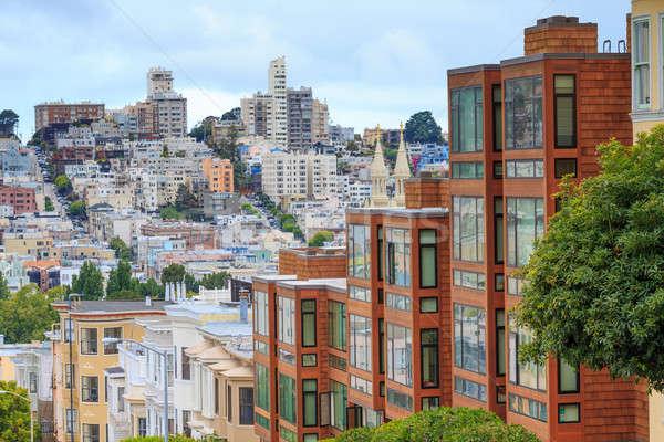 Typique San Francisco Californie maison bâtiment Photo stock © Bertl123