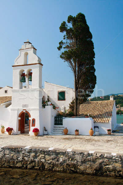 Mouse Island, Pondikonisi Monastery, Corfu, Greece Stock photo © Bertl123