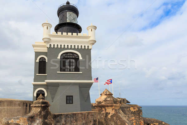 San Juan, Lighthouse at Fort San Felipe del Morro, Puerto Rico  Stock photo © Bertl123