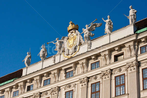 Angel trumpeters at the Imperial Palace in Vienna Stock photo © Bertl123