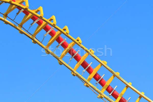 Blue sky metal azul gritar acelerar parque Foto stock © Bertl123