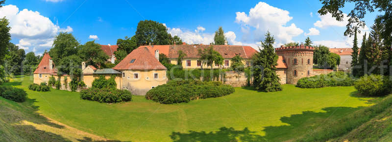 Vieille ville fortification tchèque République tchèque jardin bleu Photo stock © Bertl123