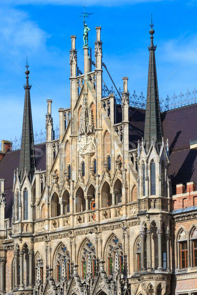 Munich, Gothic City Hall Facade Details, Bavaria, Germany Stock photo © Bertl123