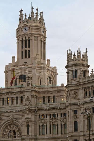 Foto stock: Madri · Espanha · edifício · cidade · azul · urbano