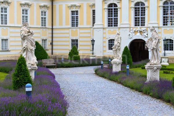 Entrance to Altenburg Baroque Abbey, Lower Austria Stock photo © Bertl123