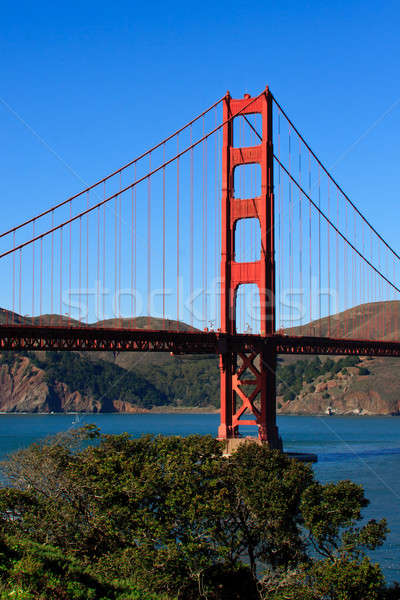 Golden Gate Bridge ver Califórnia oceano azul vermelho Foto stock © Bertl123