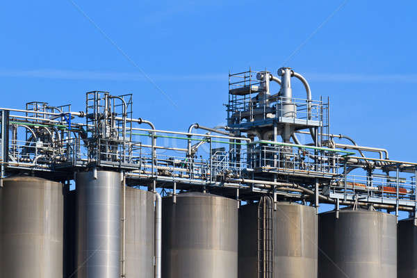 Stock photo: Industry Bulk Tank / Silo