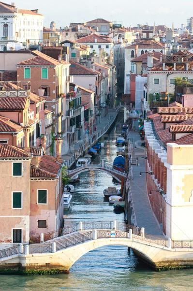 ヴェネツィア 運河 表示 午前 シーン イタリア ストックフォト © Bertl123